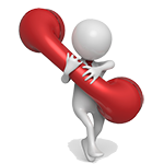 Image of character with big red phone